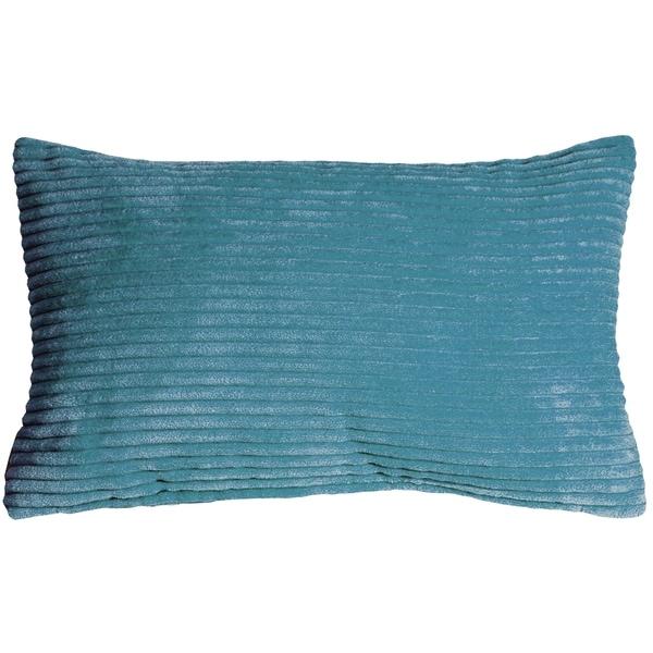 Pillow Decor - Wide Wale Corduroy 12x20 Marine Blue Throw Pillow