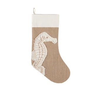 Coastal Tidings Jute Stocking