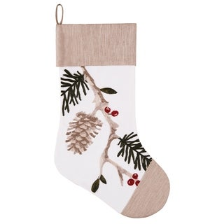 Wintergreen Embroidered Christmas Stocking