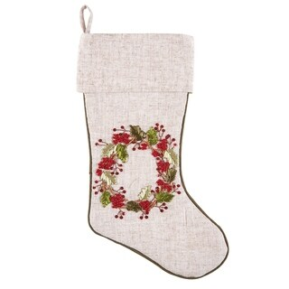 Hand Crafted Ribbon Art Christmas Stocking