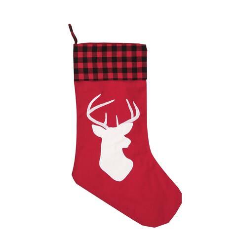 Canyon Lodge Buffalo Check Christmas Stocking