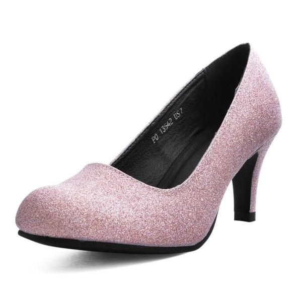 387667b93dd2 Shop T.U.K. Shoes Womens Heels, Rose Glitter Heel - On Sale - Free ...
