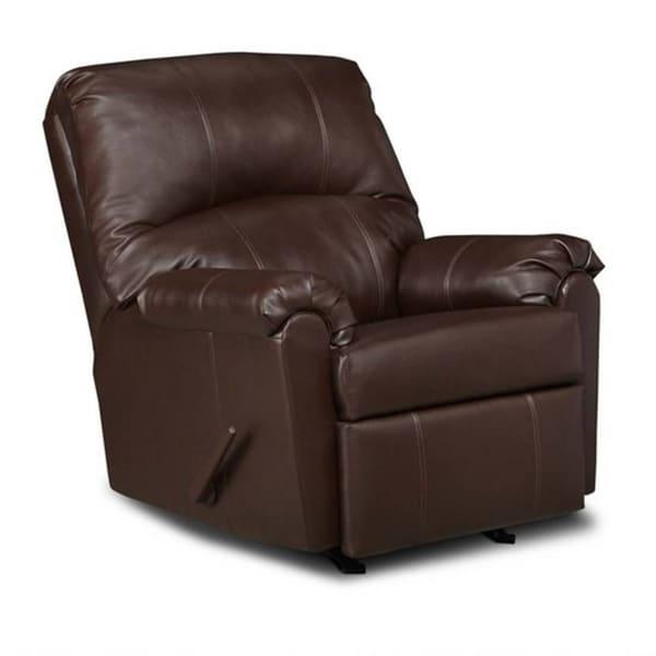 Shop Simmons Upholstery Windsor Bonded Leather Rocker
