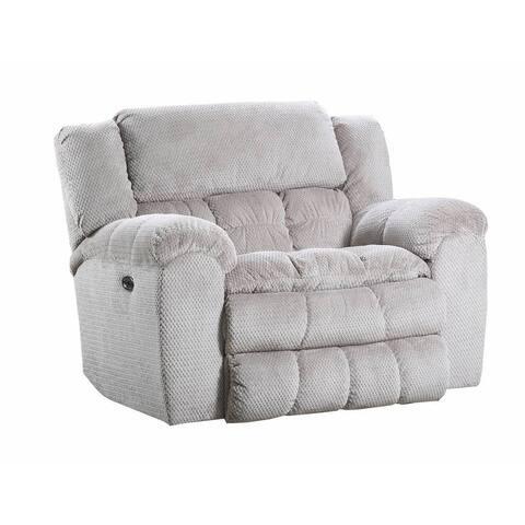 Simmons Upholstery Madeline Sandstone Power Cuddler Recliner