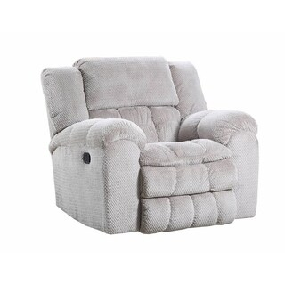 Simmons Upholstery Madeline Sandstone Power Rocker Recliner