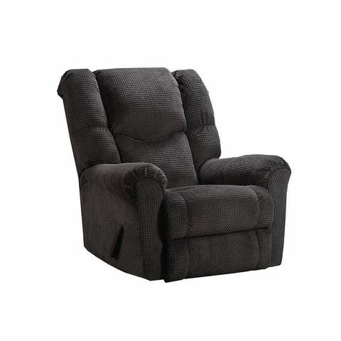 Simmons Upholstery Symphony Grey Power Rocker Recliner