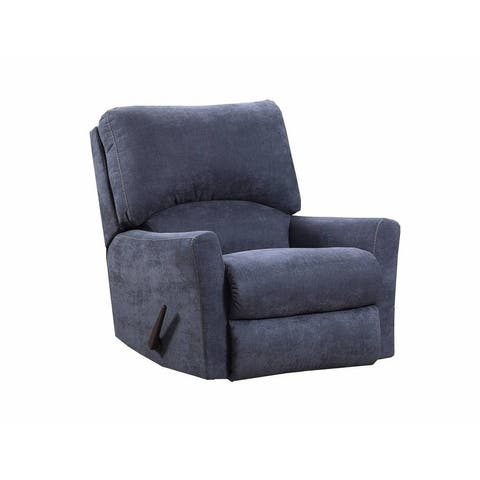Simmons Upholstery Pacific Steel Blue Power Rocker Recliner