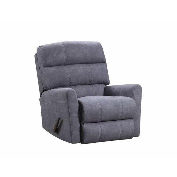 Shop Simmons Upholstery Palermo Gunmetal Power Rocker Recliner Overstock 22639265