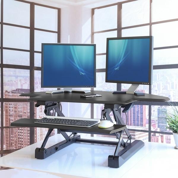 Shop Airlift 43 Corner Height Adjustable Standing Desk Converter