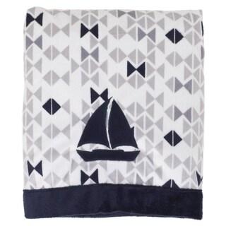 Nautica Boy Printed Velboa Appliqued Blanket