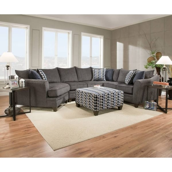 Shop Simmons Upholstery Albany Slate Sectional On Sale