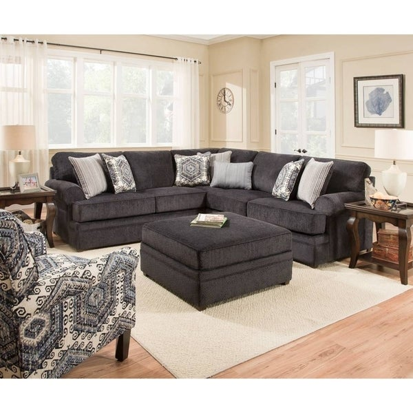 Simmons Upholstery Bellamy Slate Sectional