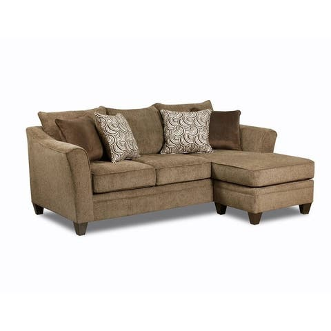 Simmons Upholstery Albany Truffle Sofa Chaise
