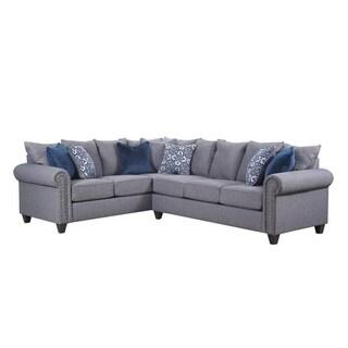 Simmons Upholstery Emma Slate Sectional