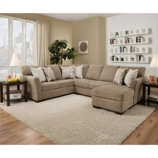 Simmons Upholstery Pacific Mocha Sectional