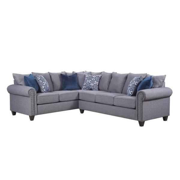 Upholstery Sale Shop Emma Simmons Slate Sectional On Free T1FclKJ3