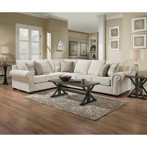 Simmons Upholstery Gavin Linen Sectional