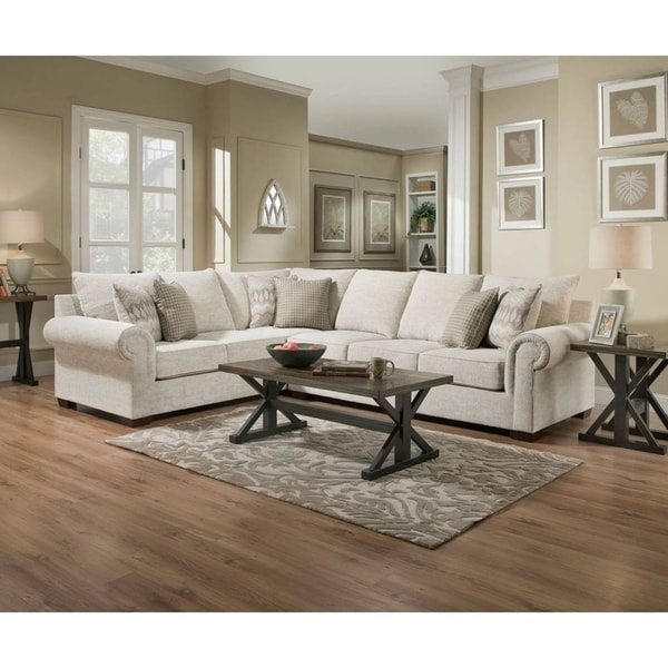 Shop Simmons Upholstery Gavin Linen Sectional On Sale