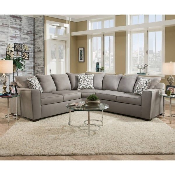 Simmons Upholstery Venture Smoke Sectional On Free Shipping Today 22639336