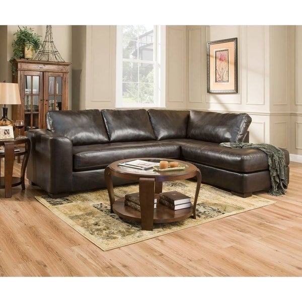 Simmons Upholstery Lucky Espresso Sectional