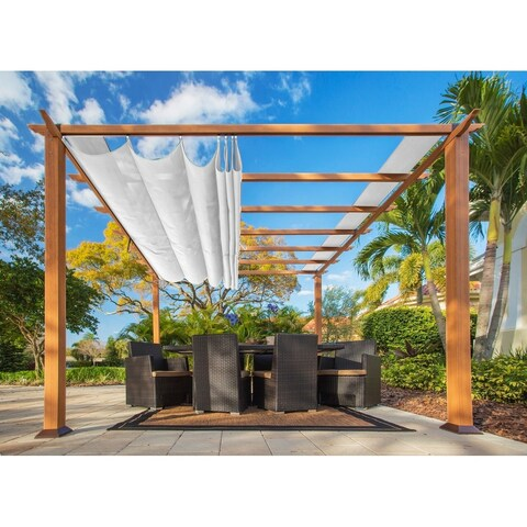 Paragon 11 x 11 Pergola with Creme Canopy