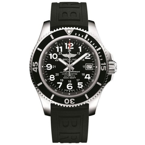 Breitling Men's 'Superocean II 42' Automatic Black Rubber Watch
