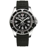Breitling Men's A17365C9-BD67-150S 'Superocean II 42' Automatic Black Rubber Watch