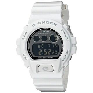 Casio Men's DW6900NB-7 'G-Shock Metallic Limited Edition' Digital White Resin Watch