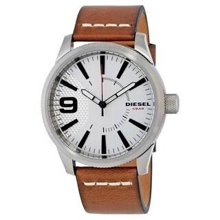 Diesel Men's 'Rasp' Brown Leather Watch