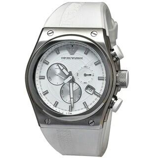Emporio Armani Men's 'Sportivo' Chronograph White Rubber Watch