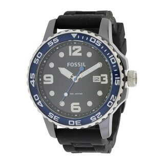 Fossil Men's 'Diver' Black Silicone Watch