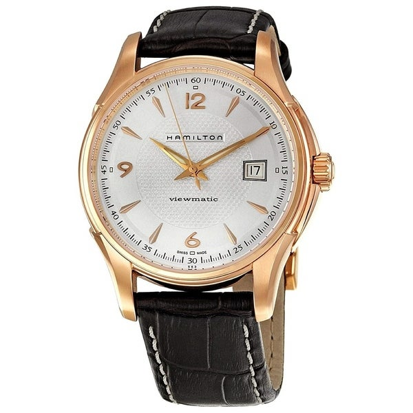 e1e567e6aa9 Shop Hamilton Men s  Jazzmaster Viewmatic  Automatic Dark Brown Leather  Watch - Free Shipping Today - Overstock - 22639405