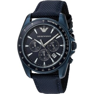 Emporio Armani Men's 'Sigma' Chronograph Blue Nylon Watch