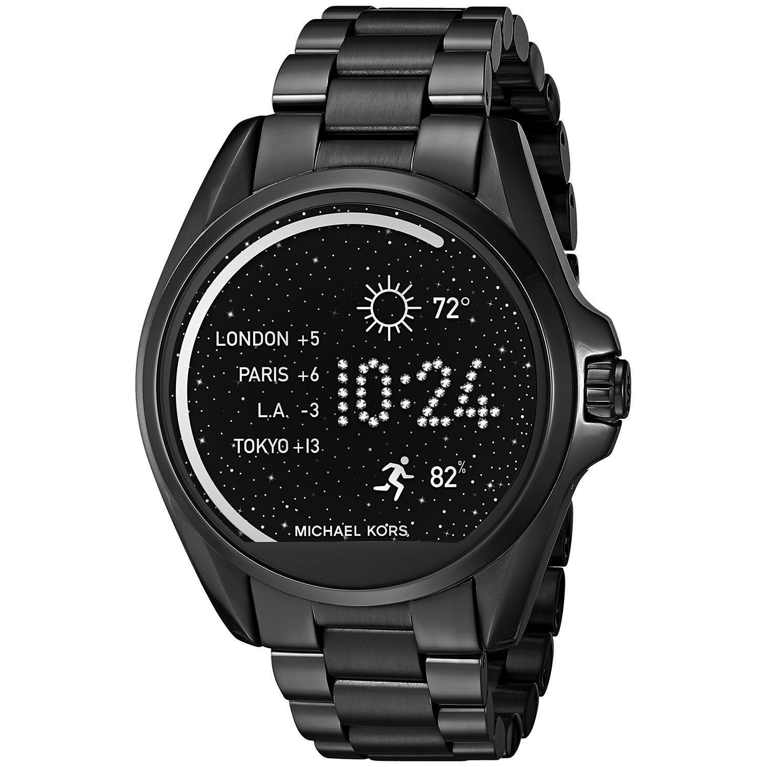 Michael Kors Mens MKT5005 Access Bradshaw Smartwatch Android 4.3+ IOS 8.2+ Bluetooth Touchscreen Black Stainless Steel Watch