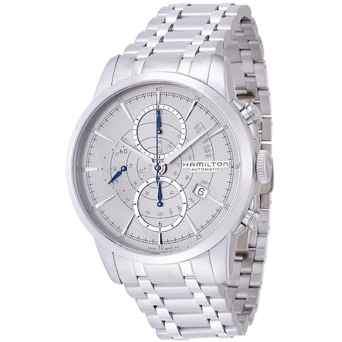 Hamilton Men's H40656181 'Railroad' Chronograph Automatic Stainless Steel Watch