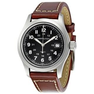 Hamilton Men's 'Khaki Field' Brown Leather Watch