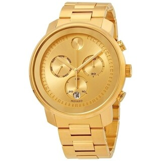 Movado Men's 'Bold' Chronograph Gold-Tone Stainless Steel Watch
