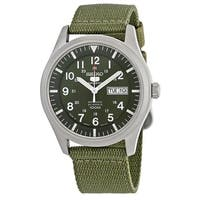 Seiko Men's SNZG09J1 '5' Automatic Green Canvas Watch