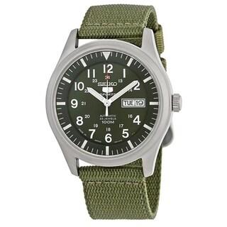 Seiko Men's '5' Automatic Green Canvas Watch