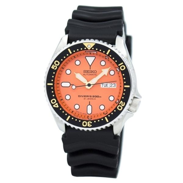 Seiko Men's SKX011J1 'Diver' Automatic Black Rubber Watch