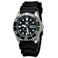 Seiko Men's  '5' Automatic Black Rubber Watch