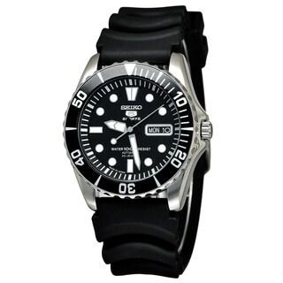 Seiko Men's SNZF17J2 '5' Automatic Black Rubber Watch