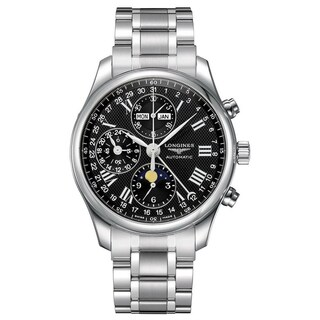 Longines Men's 'Master' Moonphase Chronograph Automatic Stainless Steel Watch