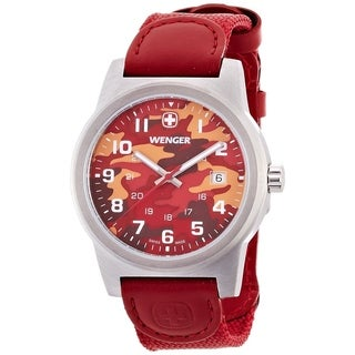 Wenger Men's 'Classic Color' Red Nylon Watch
