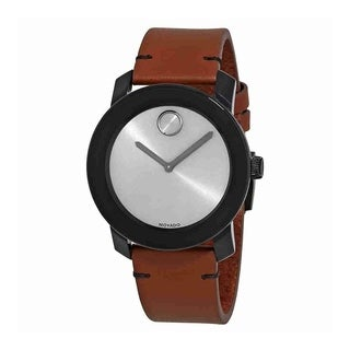 Movado Men's 3600442 'Bold' Brown Leather Watch