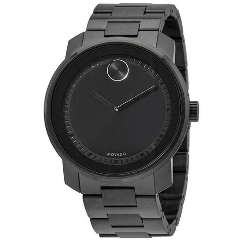 Movado Bold Black Stainless Steel Mens Watch 3600471