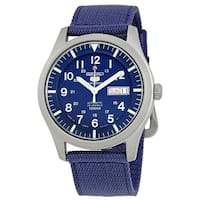 Seiko Men's  '5' Automatic Blue Canvas Watch