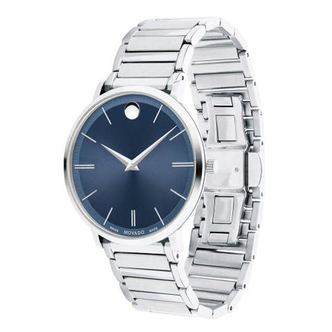 Movado Men's 0607168 'Ultra Slim' Stainless Steel Watch