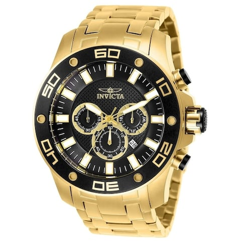 Invicta Men's Pro Diver 26076 Gold Watch