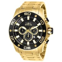 Invicta Men's 26076 'Pro Diver' Scuba Gold-Tone Stainless Steel Watch